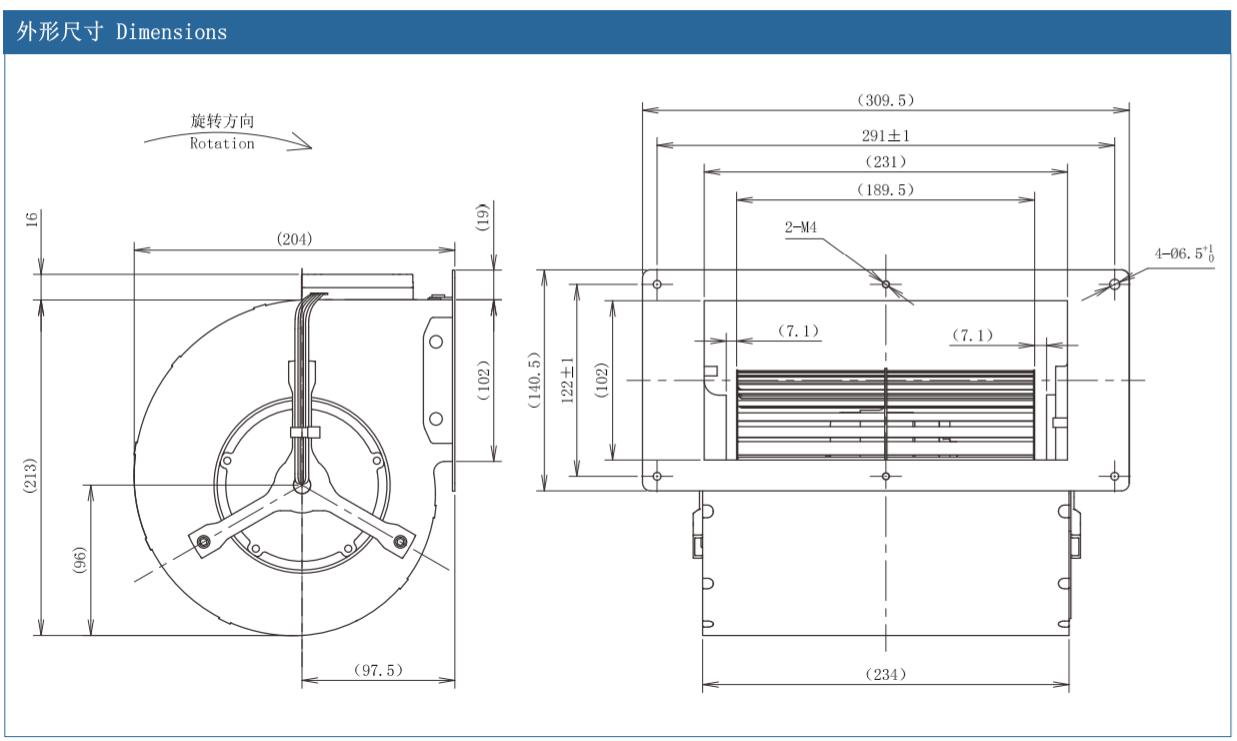 centrifugal fan motor