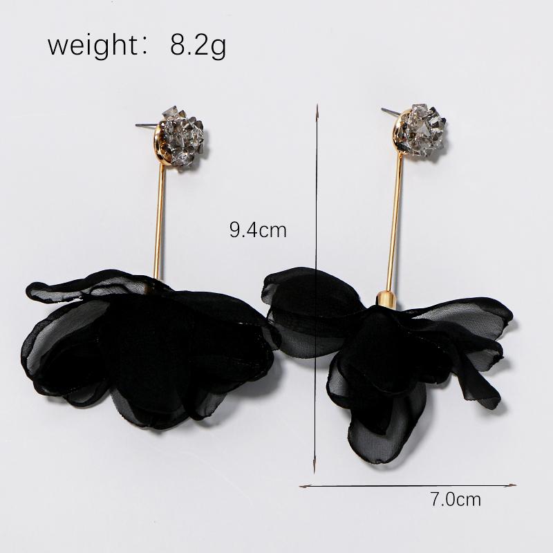 Ribbon Flower Dangle Earrings2