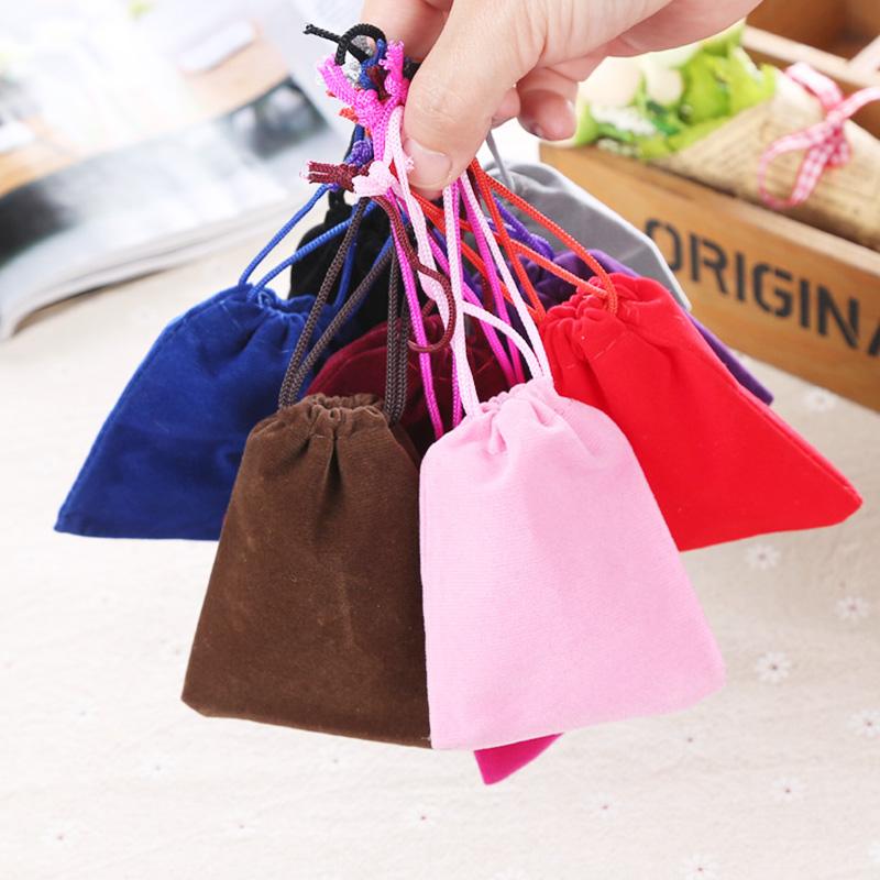 Velvet fabric material gift bag