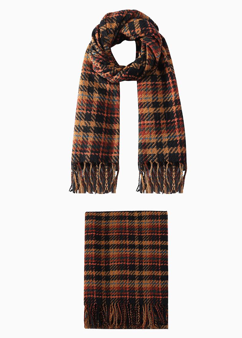 Cotton plaid scarf
