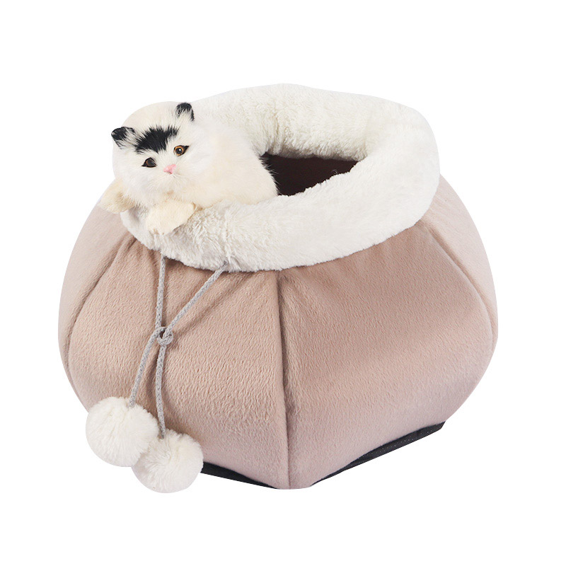 Warm and enclosed cat house in autumn and winter