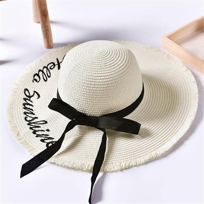 Women Wide Brim Sun Straw Hat