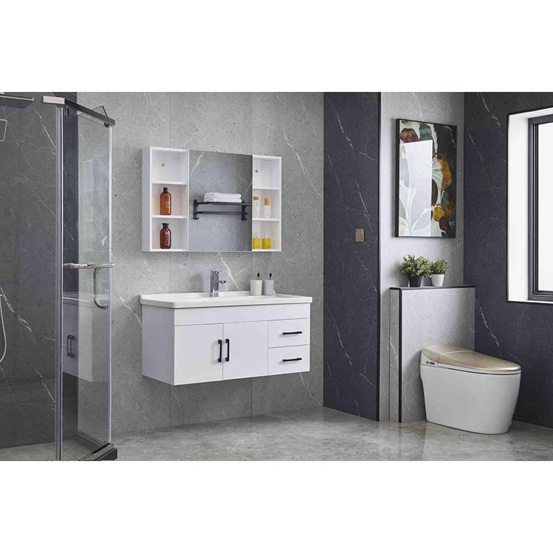Plywood bathroom cabinet wall mounted