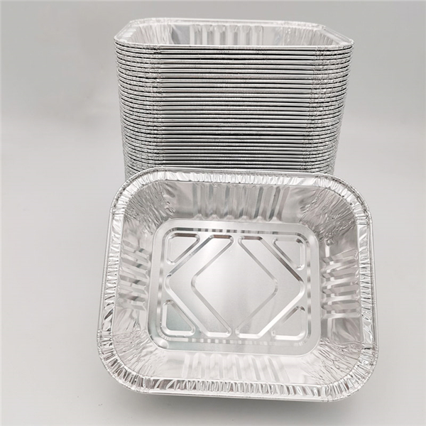 small foil containers with lids