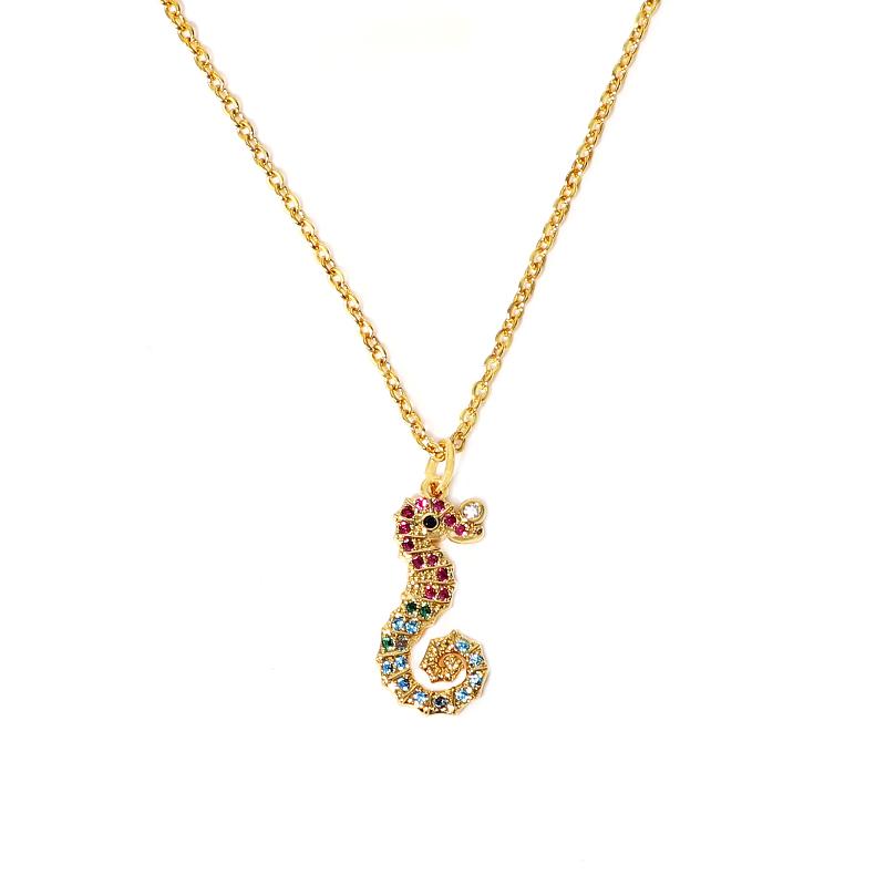 Copper Zircon White Colorful Necklaces