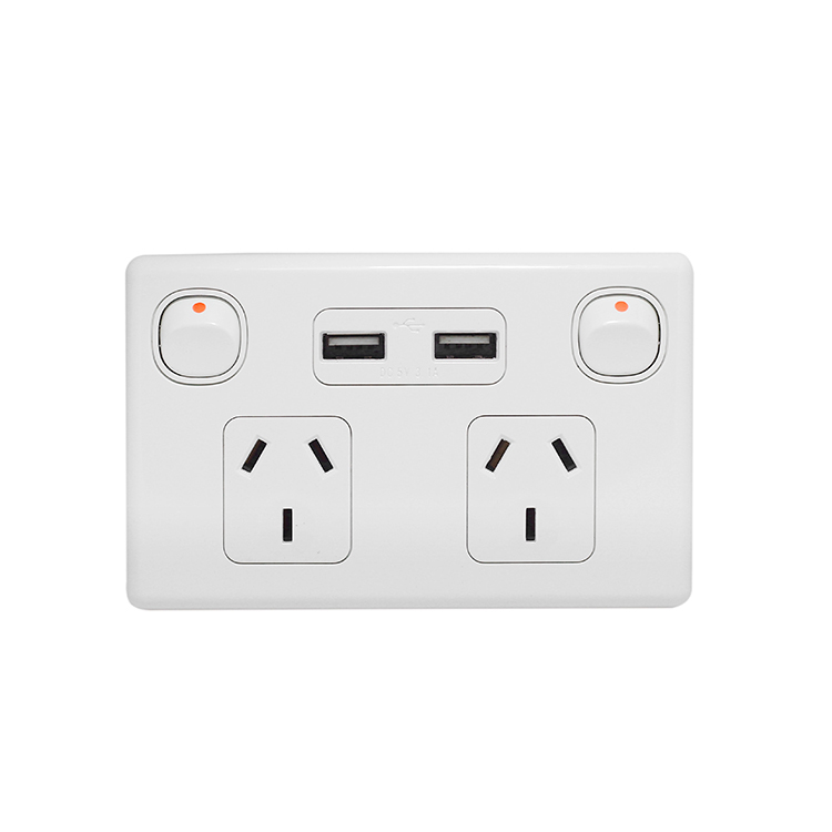 Two USB GPO Wall Socket