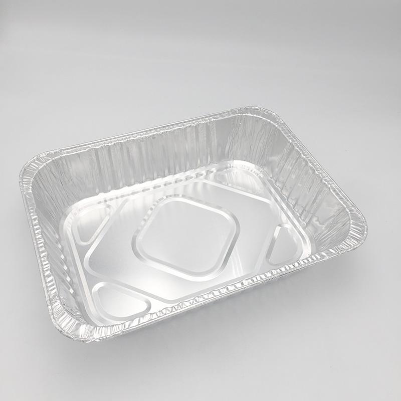 aluminium foil container with lid