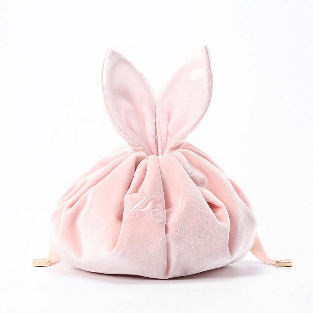 Light velvet luxury wind rabbit cosmetic bag