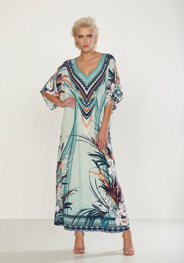 Wider Print Rayon dress