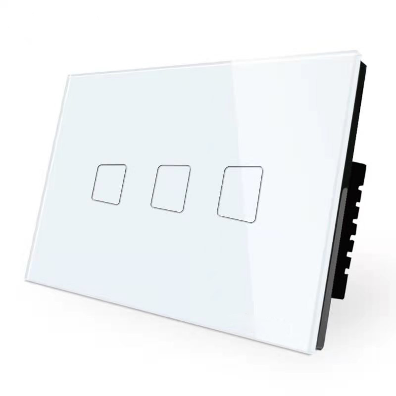 4 Gang Wifi Smart Switch No Neutral UK Controller Smart Home Switch Remote Control Touch Screen Wall Light Switchs