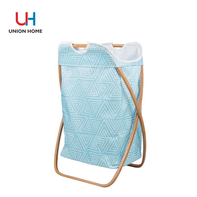 Laundry basket with alumium frame