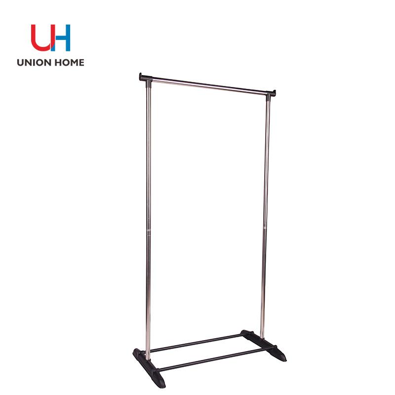 Plastic carbon steel garment rack