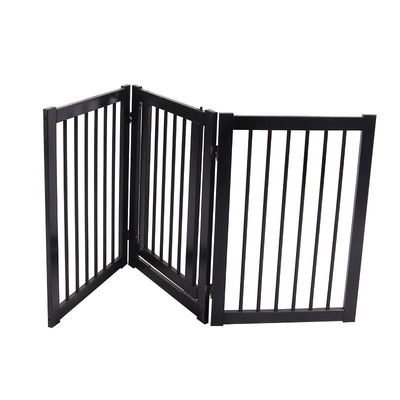 Black solid wood dog fence pet supplies