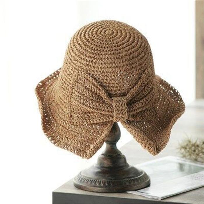 Bow Sun Hat Wide Brim Floppy Summer Hats