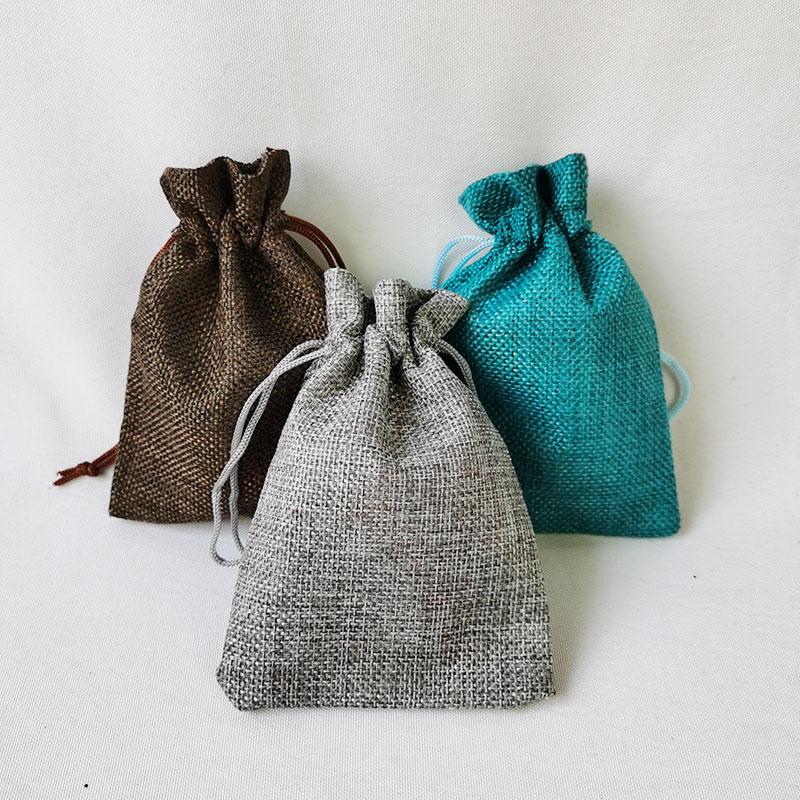 Customized artificial jute gift bag