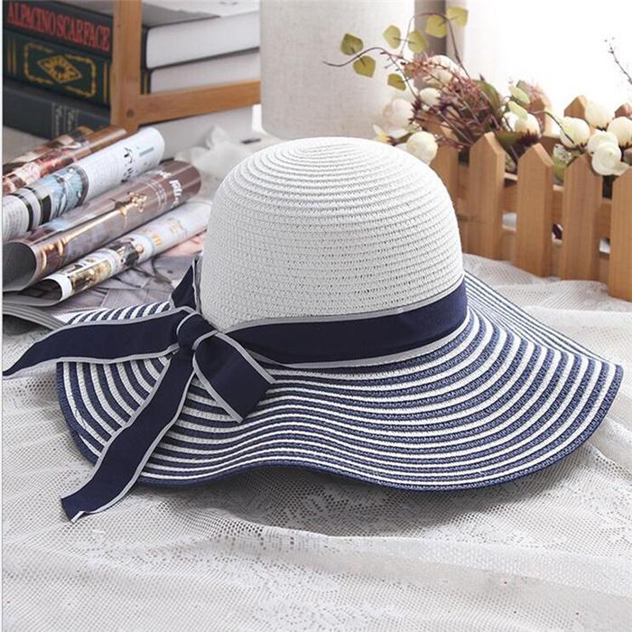 Black White Striped Hat