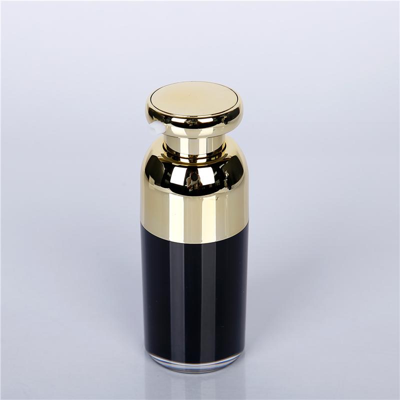 Black glass cosmetic Jar