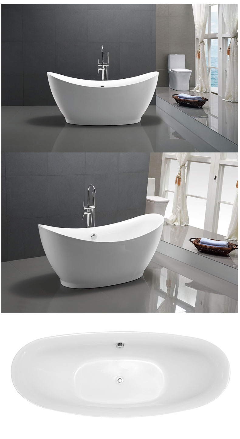 55 inch freestanding tubs