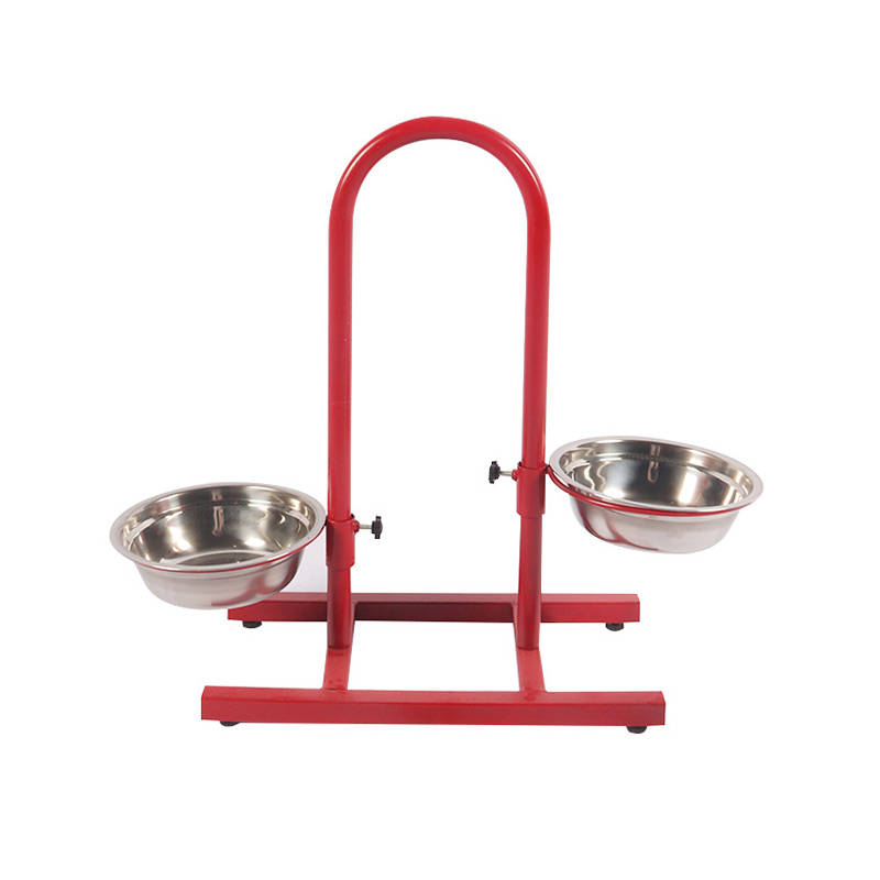 Adjustable height feeding rack pet supplies