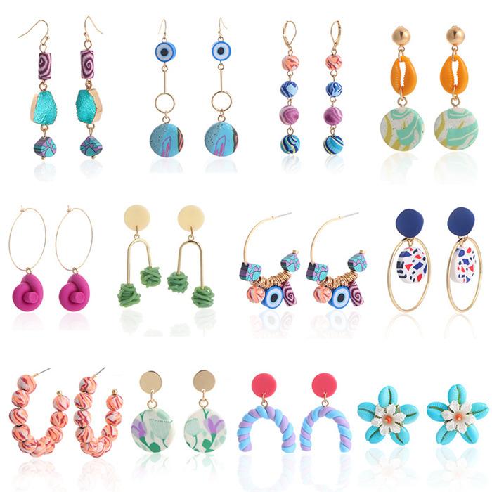 Soft Pottery Beaded Earrings