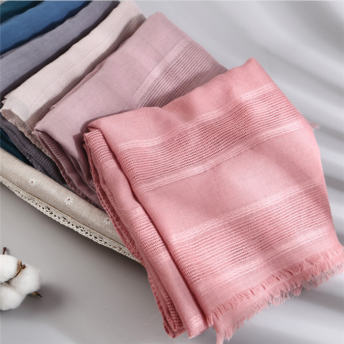 Spring Hollow Linen&Cotton Scarf
