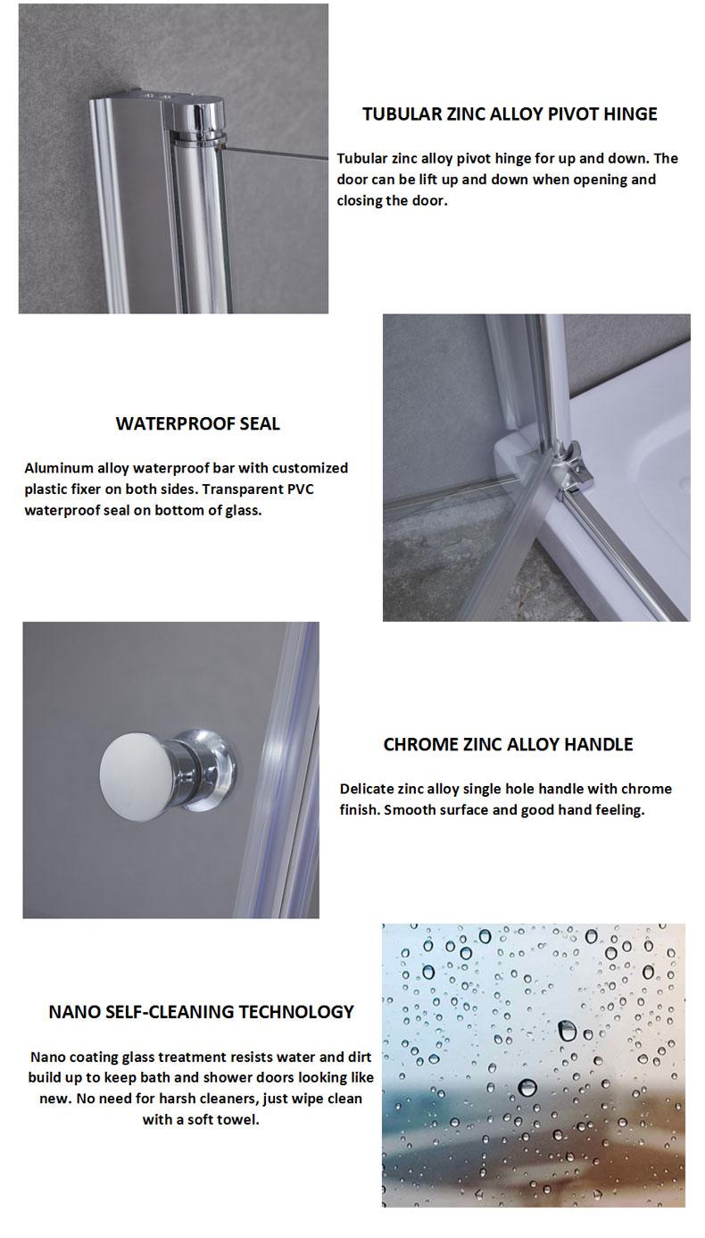 bathtub shower doors manufacturers
