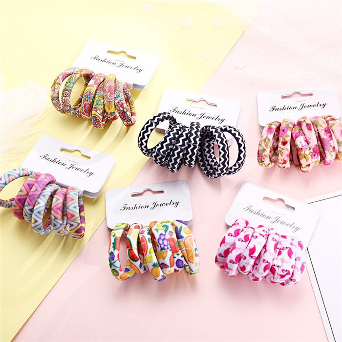 Women Print Cotton Elastic Hair Bands