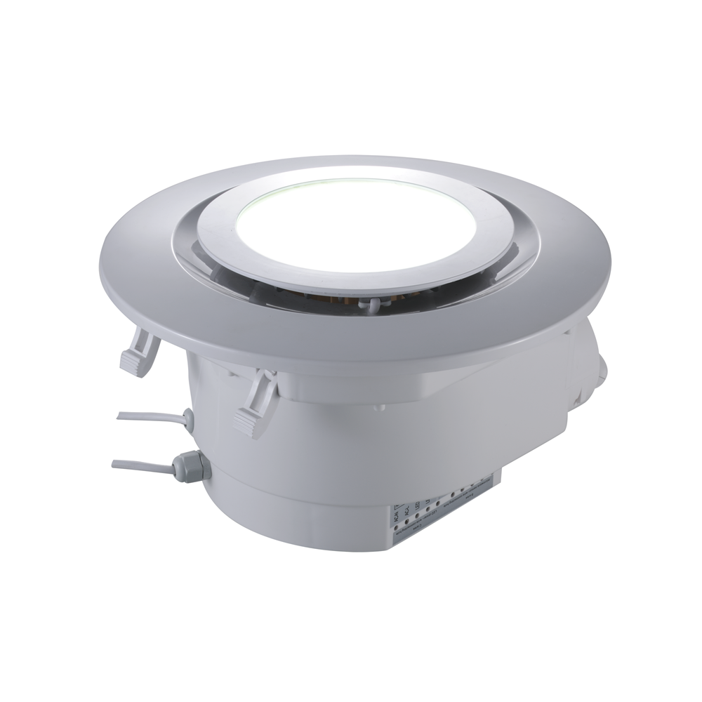 SAA 8 Inch 220V  ABS Low Noise  Square Bathroom Kitchen Ventilation Fan