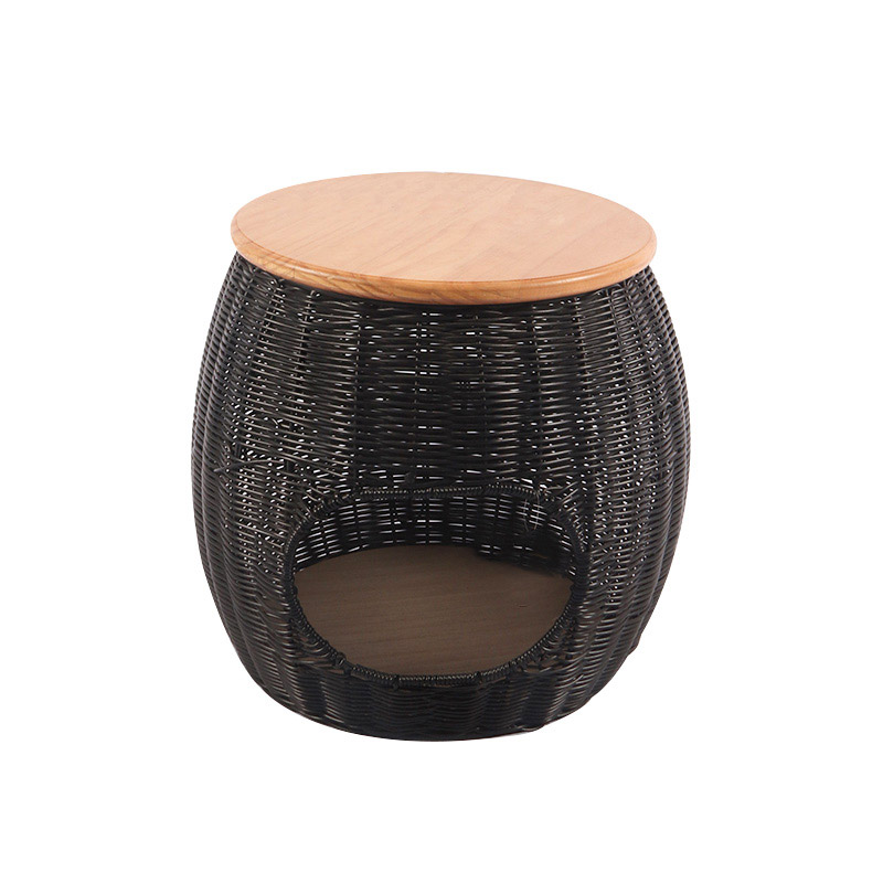 Woven round cat stool pet product