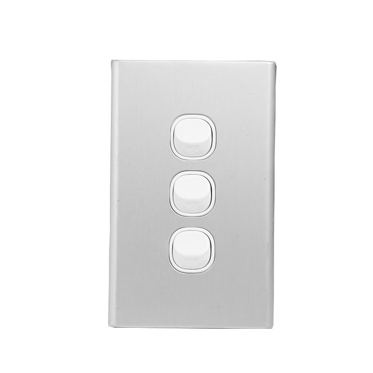 Vertical 250V 16A Australia saa 4 Gang Wall Light Switch