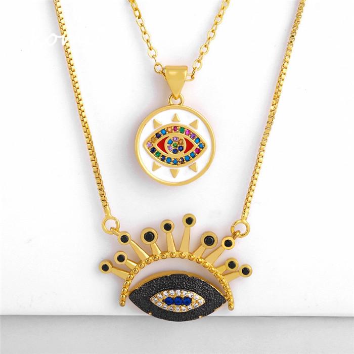 Blue Eyes Pendant Necklace