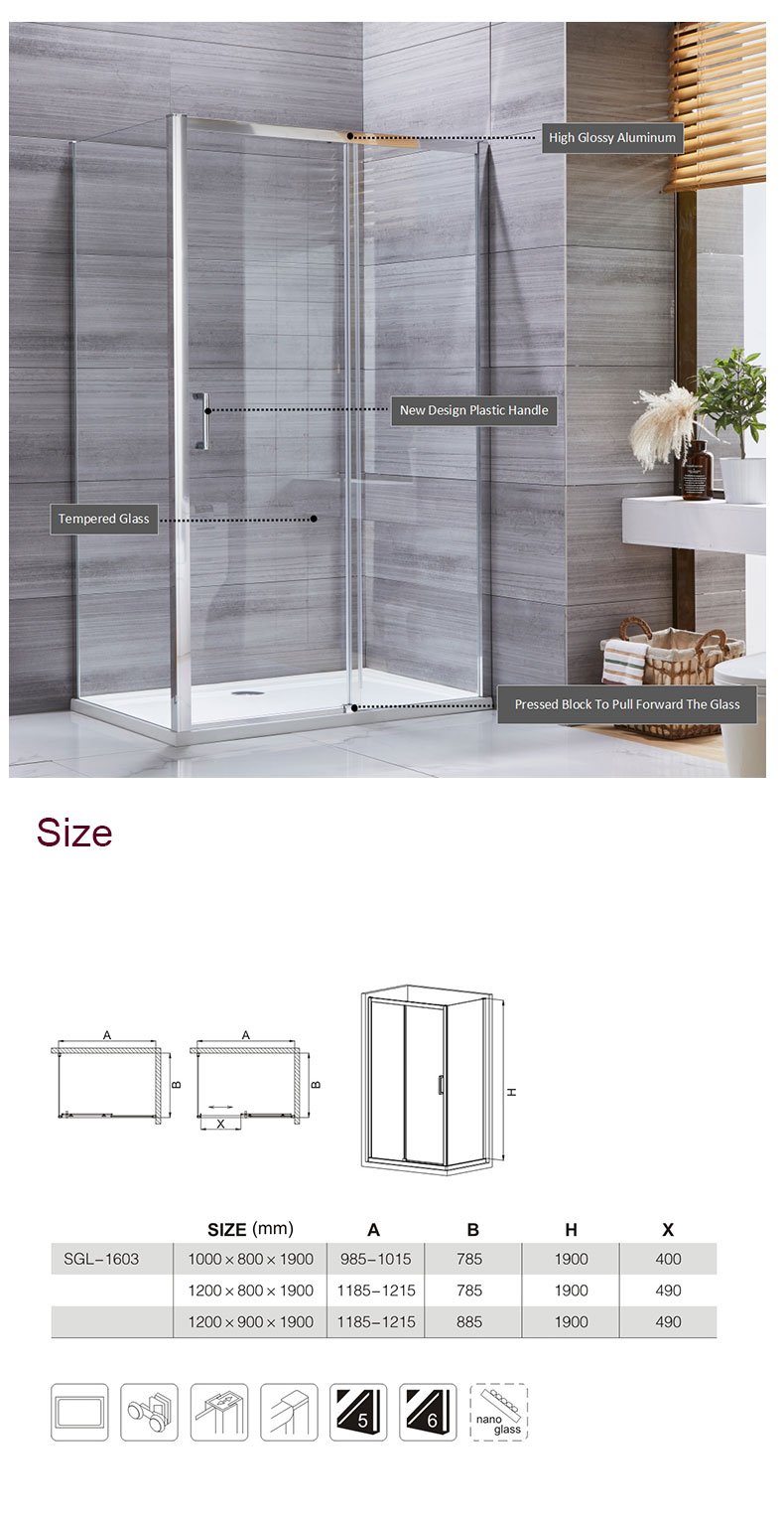 3 sided outdoor shower enclosure