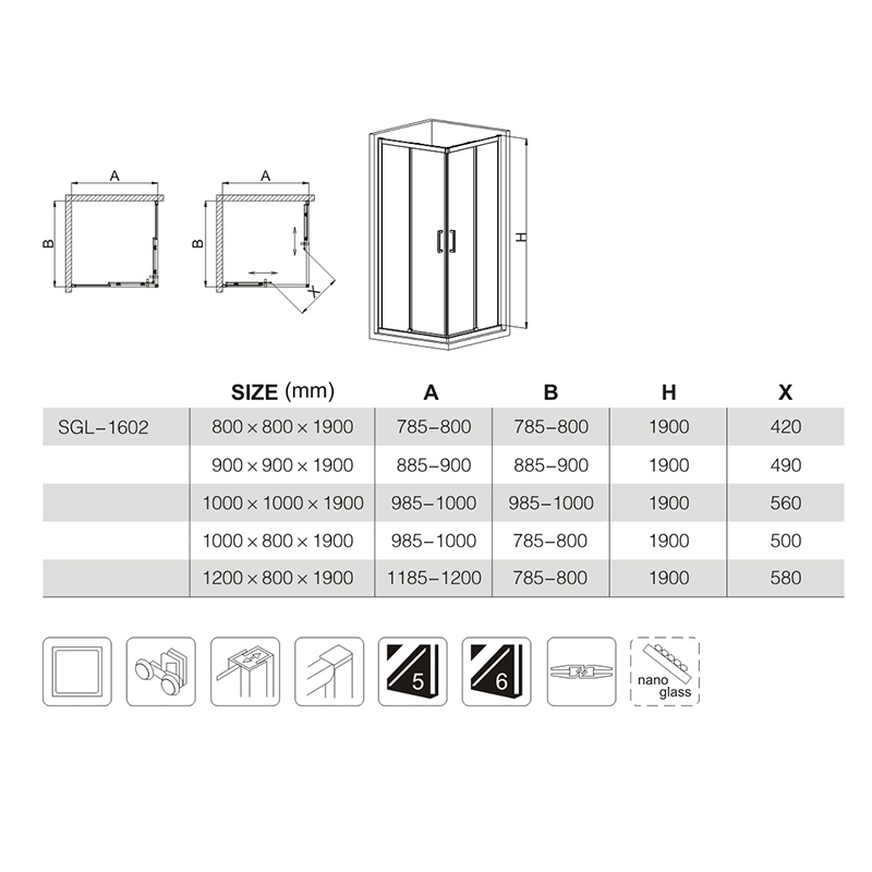 36 x 48 shower enclosure