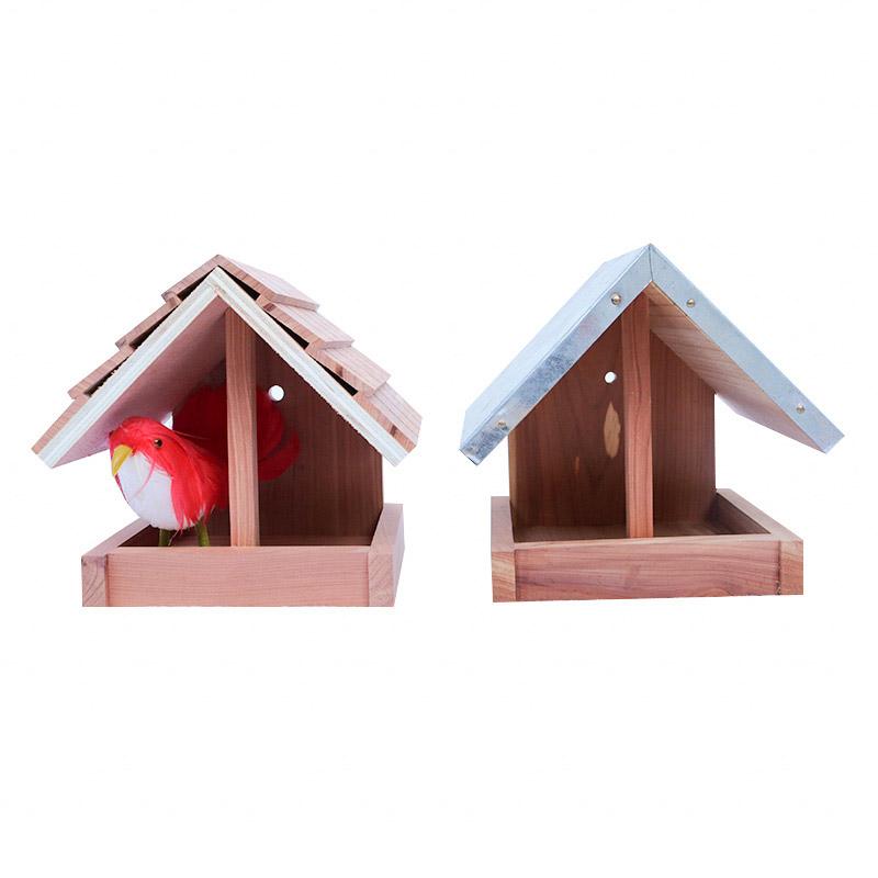 Red cedar bird feeder pet