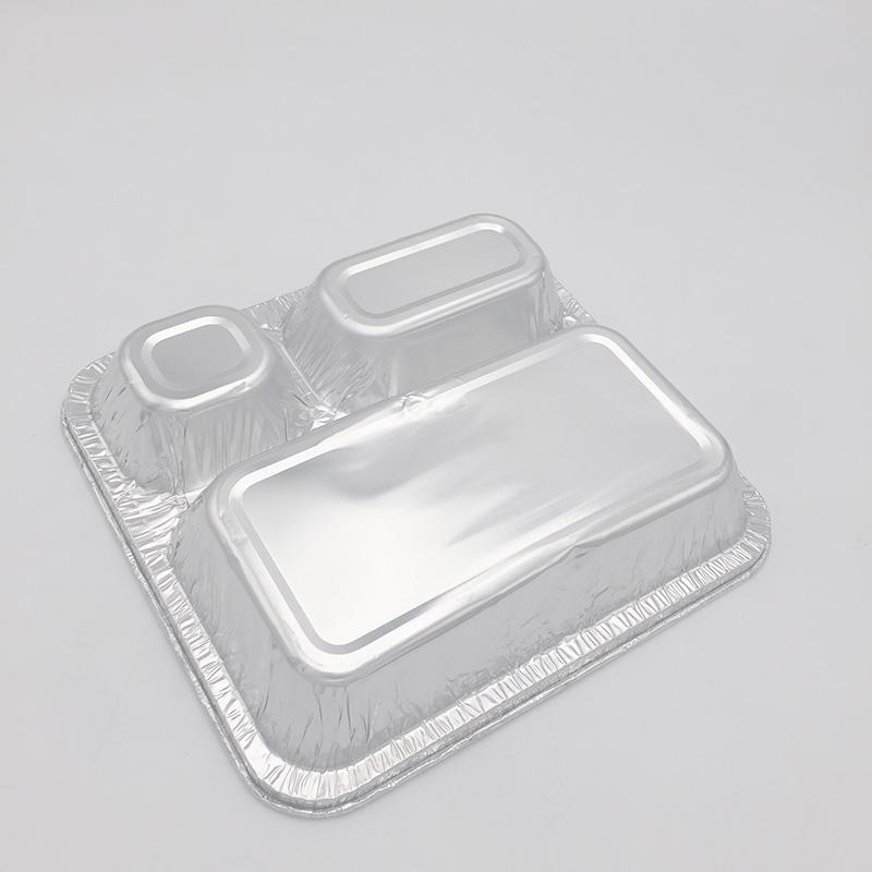 Devided aluminium containers