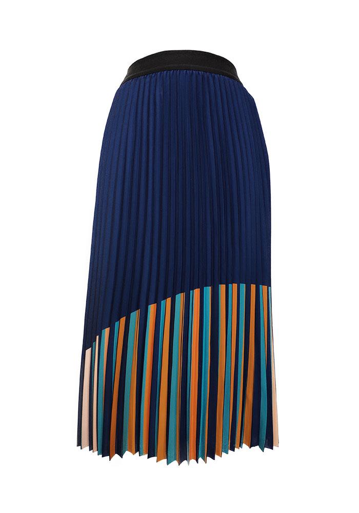 Plaid Pleat Skirt