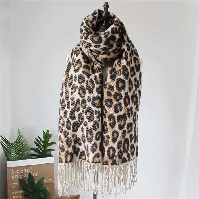 Leopard Femme Women Winter Blanket Scarf