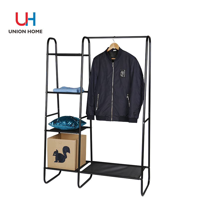 Durable iron tube garment rack