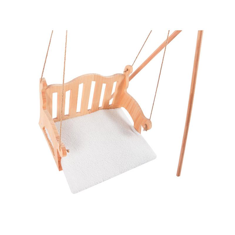 Solid wood cat swing