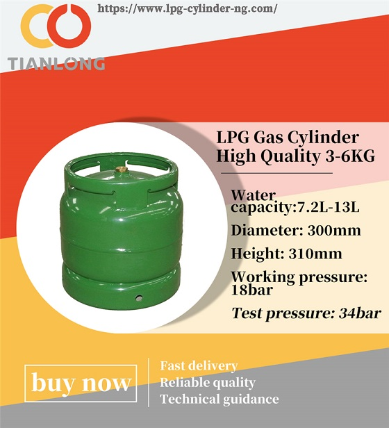 domestic lpg gas cylinder dimensions