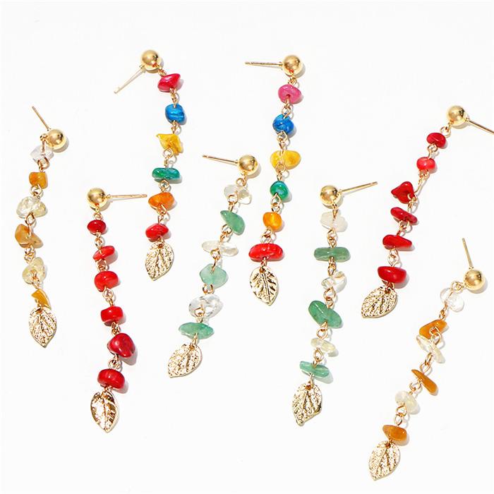 Bohemian Colourful Metal Earrings