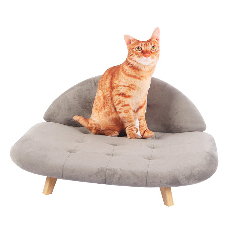 Grey cat sofa with backrest pet supplies