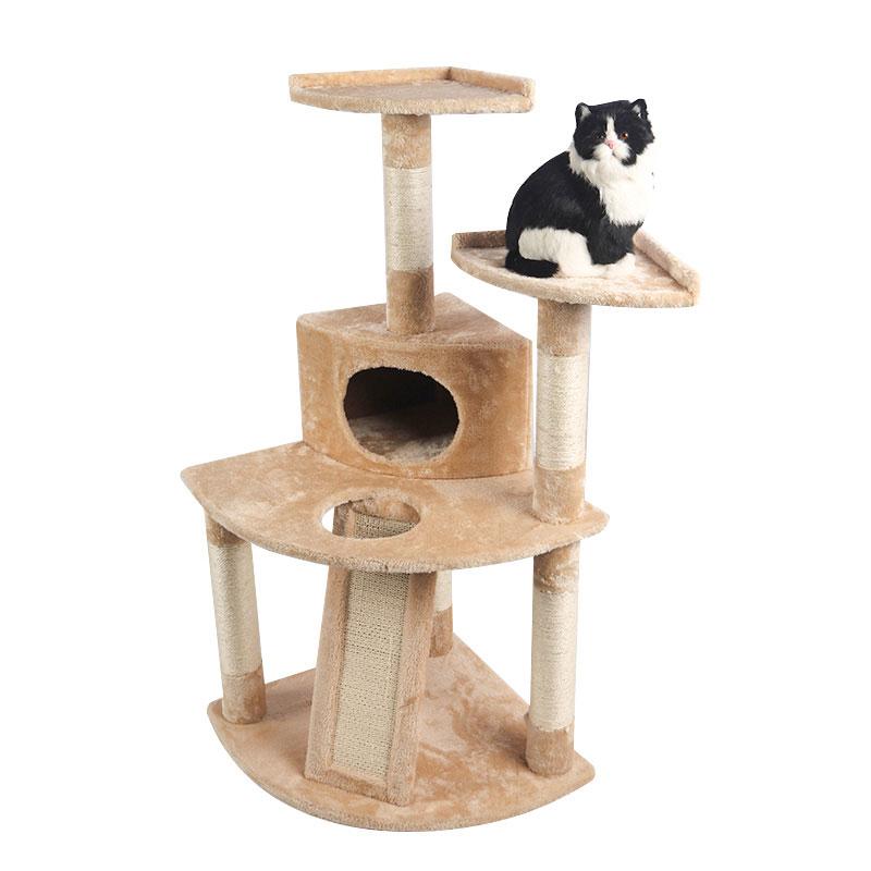 Small brown cat climbing frame pet product
